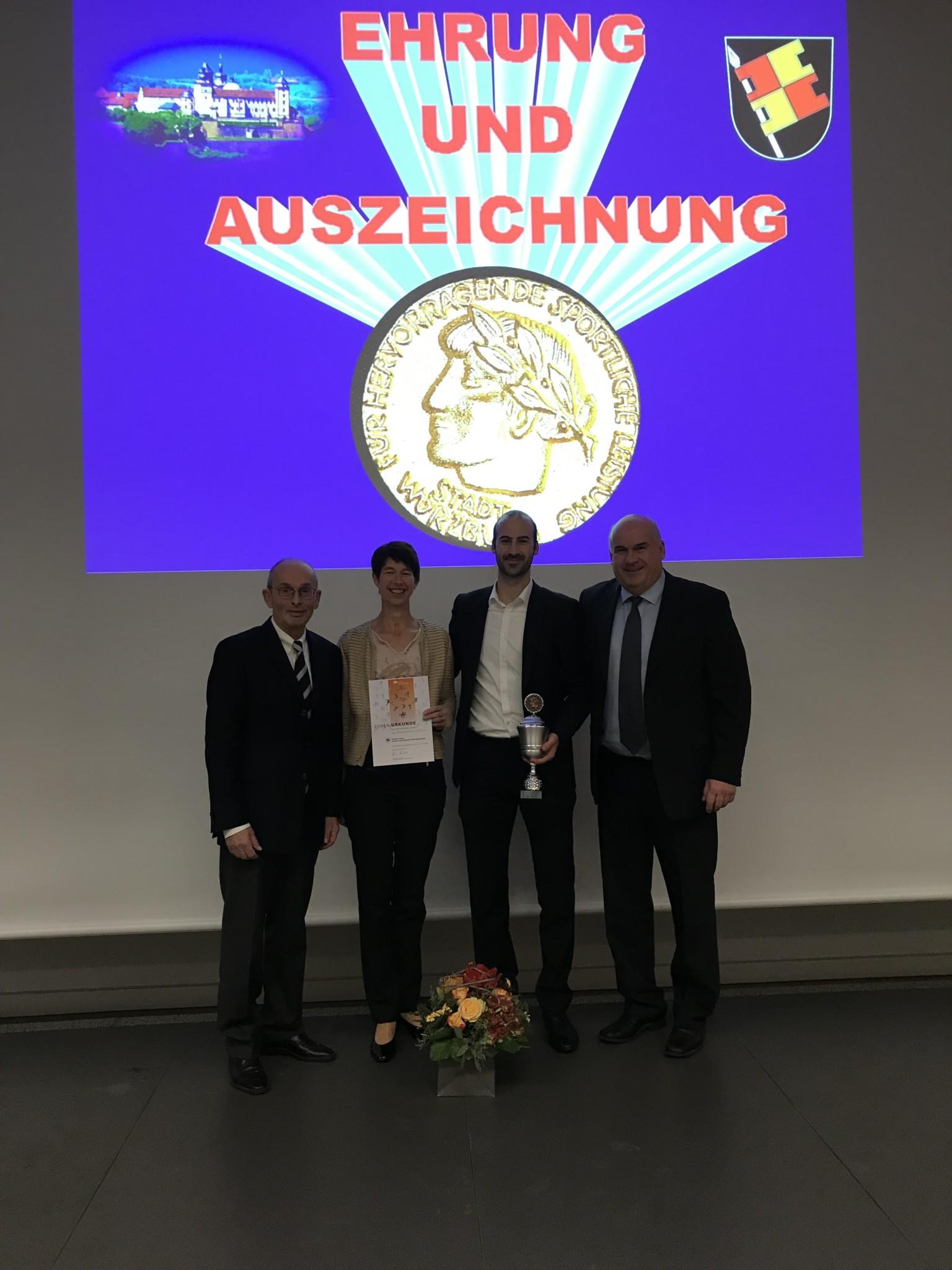 Auszeichnungen für Simon Rösner und Corinna Kaup